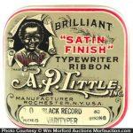A.P. Little Satin Finish Ribbon Tin