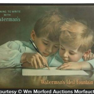 Waterman's Fountain Pen Sign