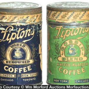Lipton's Coffee Tin Samples