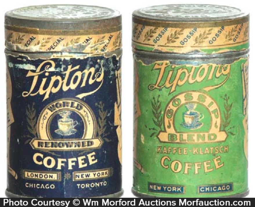 Lipton's Coffee Tin Samples