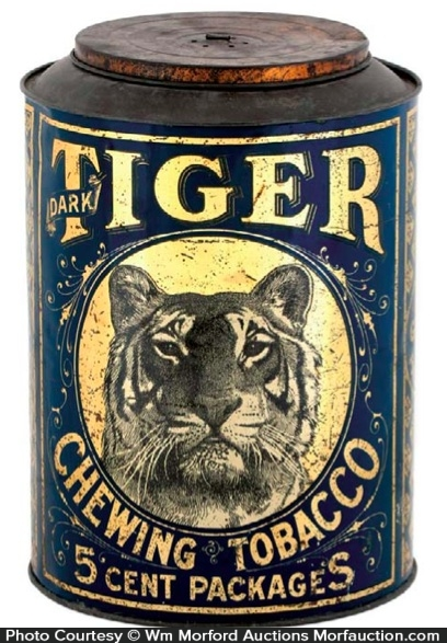Tiger Chewing Tobacco Bin