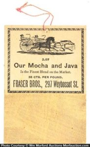 Fraser Bros. Coffee Match Striker