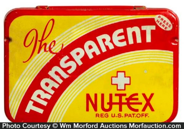 Transparent Nutex Condom Tin