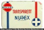 Transparent Nutex Condom Tin