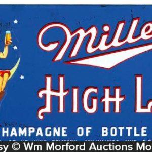Miller Highlife Glass Sign