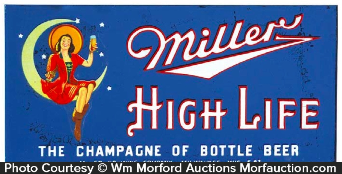 Miller Highlife Glass Sign