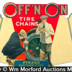 Off'N'On Tire Chains Sign