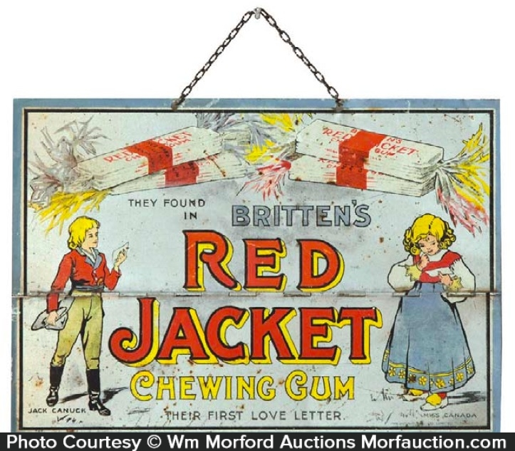 Red Jacket Gum Sign