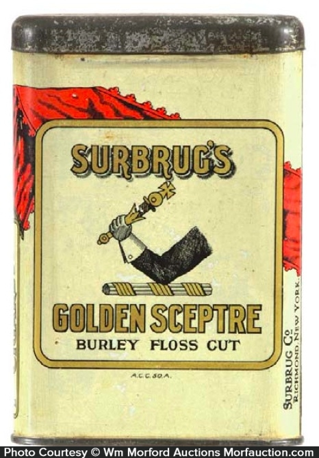 Surbrug's Golden Sceptre Tobacco Tin