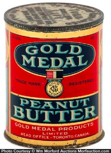 Gold Medal Peanut Butter Tin