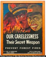 Wwii Forest Fire Poster