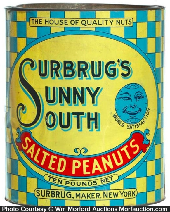 Surbrug's Sunny South Peanuts Tin
