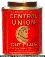 Central Union Tobacco Can
