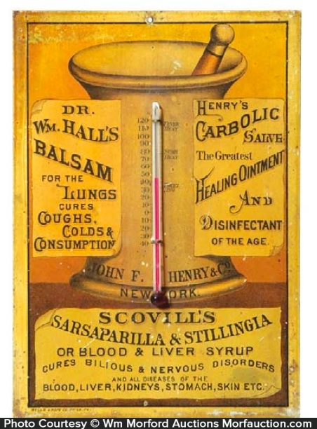 Scovill's Sarsaparilla Sign