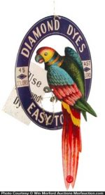 Diamond Dyes Parrot Sign