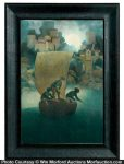 Maxfield Parrish Wynken, Blinken & Nod Print