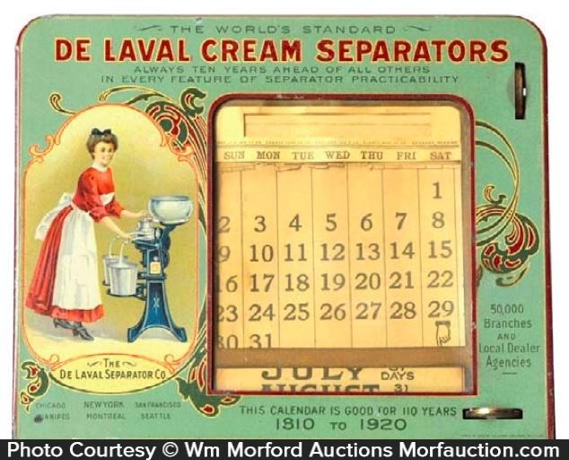 De Laval Cream Separator Calendar