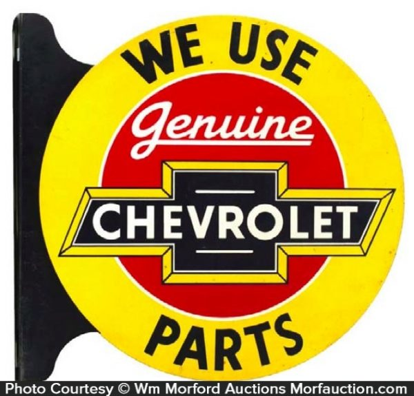Chevrolet Parts Sign