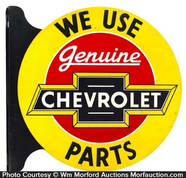 Chevrolet Parts Sign