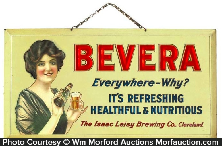 Bevera Celluloid Sign