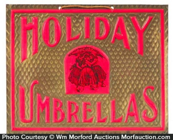 Holiday Umbrellas Sign