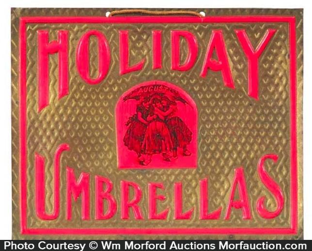 Holiday Umbrellas Sign