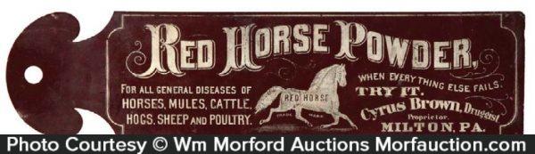 Red Horse Powder Ledger Marker