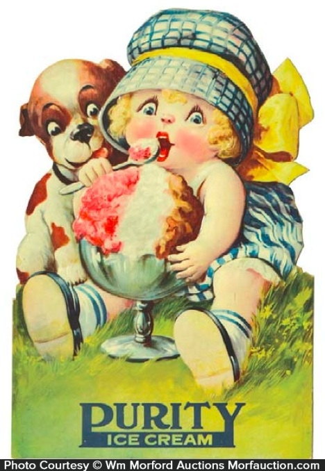 Purity Ice Cream Sign