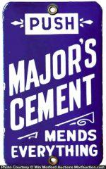 Major's Cement Door Push