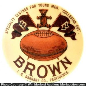 Brown Football Pocket Mirror