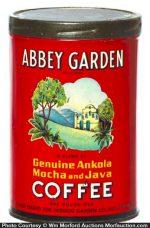 Abbey Garden Coffee Can