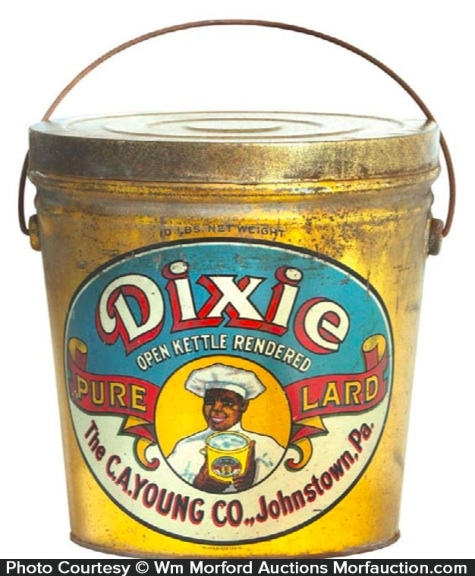 Dixie Lard Tin Pail