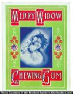 Merry Widow Gum Sign