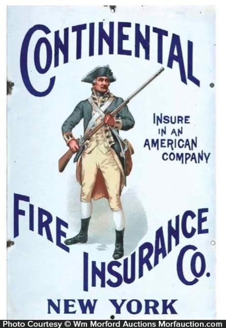 Continental Fire Insurance Sign