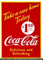Coca-Cola Take A Case Home Sign
