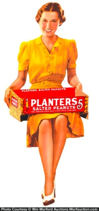 Planters Peanuts Display Sign