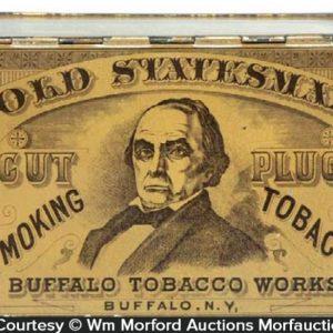 Old Statesman Tobacco Tin