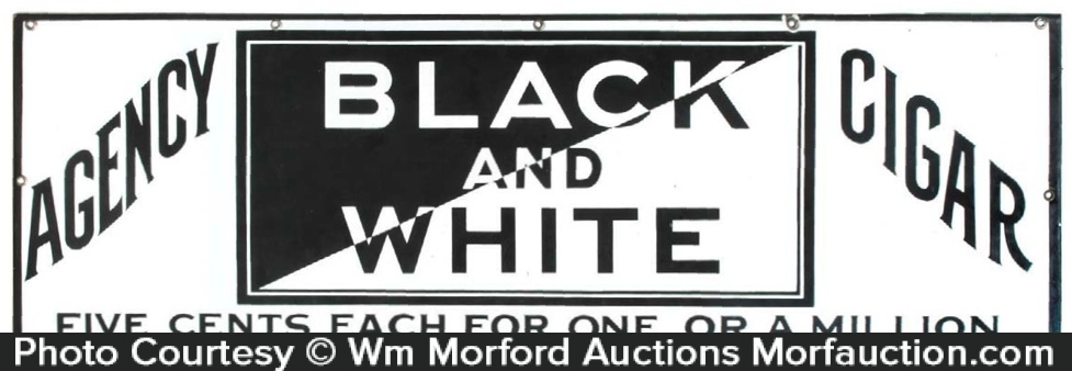 Black and White Cigar Sign