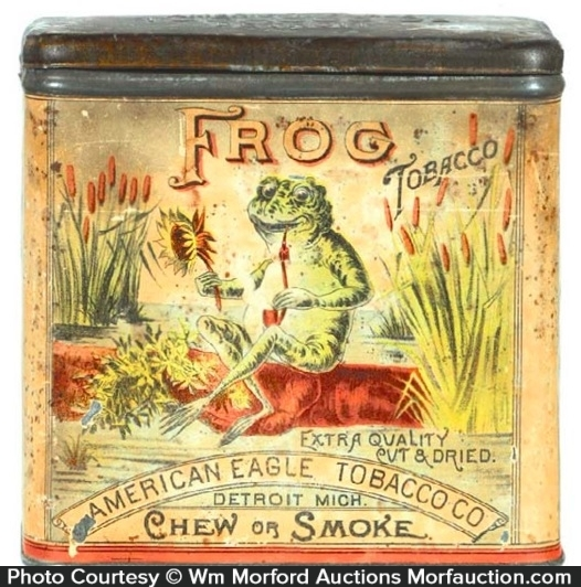 Frog Tobacco Tin