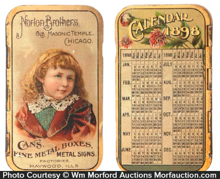 Norton Brothers Pocket Calendar