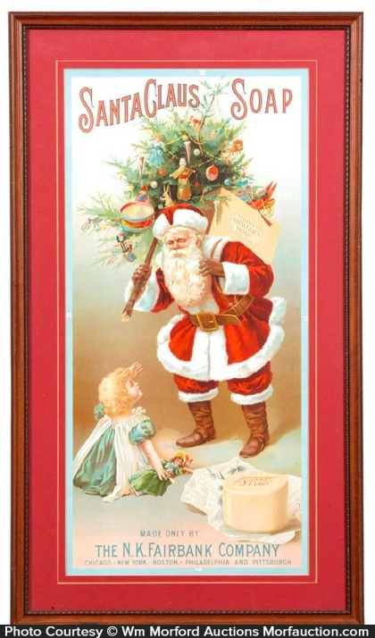 Santa Claus Soap Sign