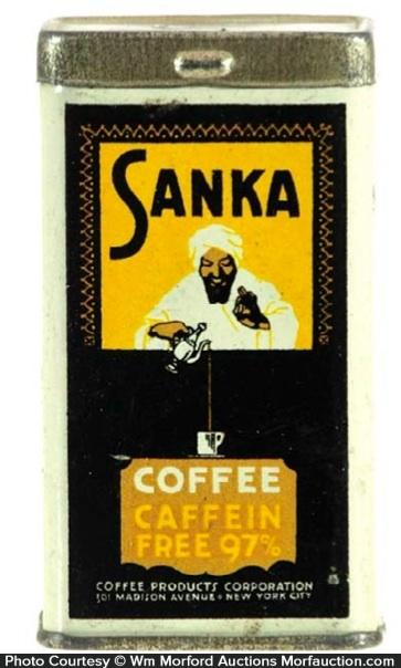 Sanka Coffee Sample Tin