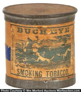 Buck Eye Tobacco Can