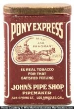 Pony Express Tobacco Tin