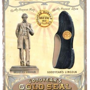 Lincoln Gold Seal Shoes Sign