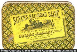 Boyer's Railroad Salve Tin