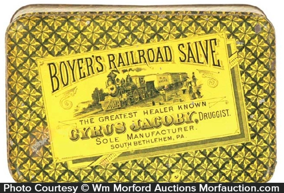 Boyer's Railroad Salve Tin
