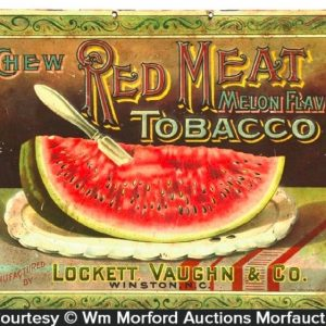 Red Meat Tobacco Sign