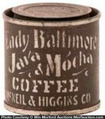 Lady Baltimore Coffee Sample Tin