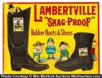 Lambertville Snag-Proof Boots Sign